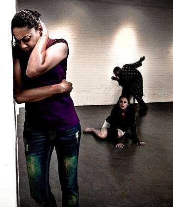 Cherissa Richards - left - in Bound to Create Theatres Dirty Butterfly