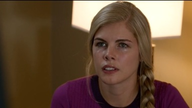 Sarah Jurgens in an episode of Covert Affairs for the USA Network