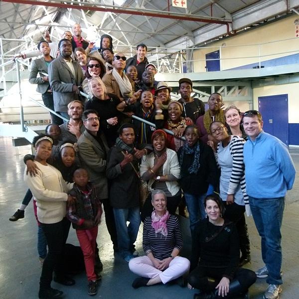 Liz Bradley and the participants in the Market Theatre of Johannesburg's SELF START program