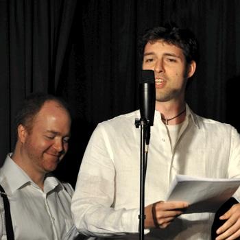 John Fleming performing a Radio Play
