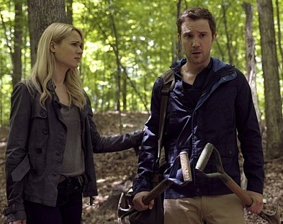 Kristen Hager and Sam Huntington in Being Human