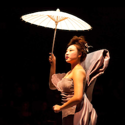 Tina Jung in a costume by Amelia Taverner in Wounds to the Face
