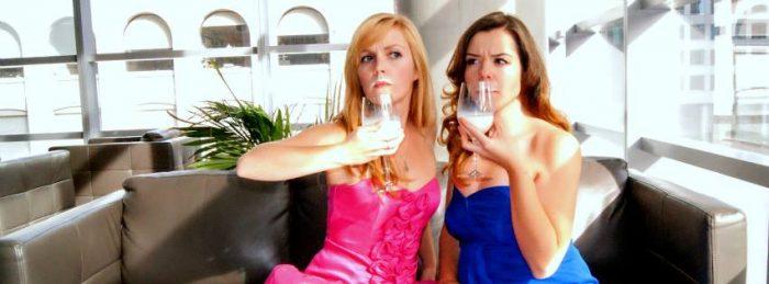 "Improv duo ""GoddaKuch"", featuring Victoria Kucher and Sheri Godda."