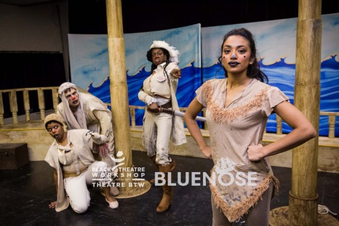 Nadine Bhabha and the cast of Bluenose