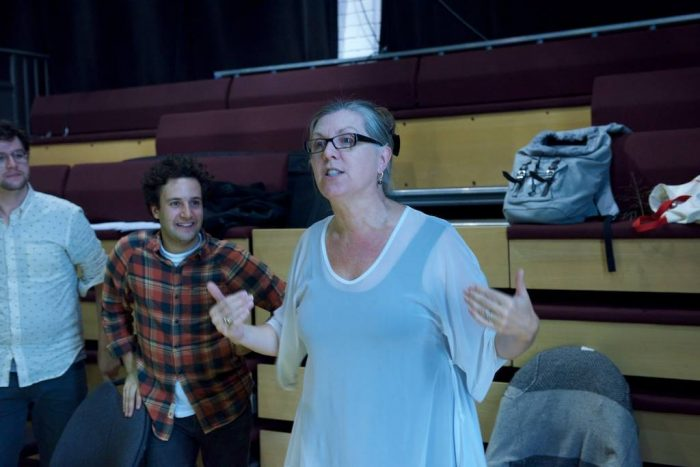 Jeannette Lambermont-Morey directing Faust—photo by Burke Campbell