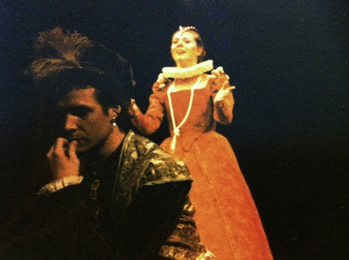 Portia and Bassanio in The Merchant of Venice, with David McCann and Jeannette Lambermont-Morey.
