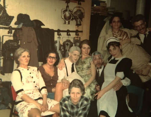 The cast of Separate Tables (Jeannette Lambermont-Morey is in green in the centre), circa 1977.