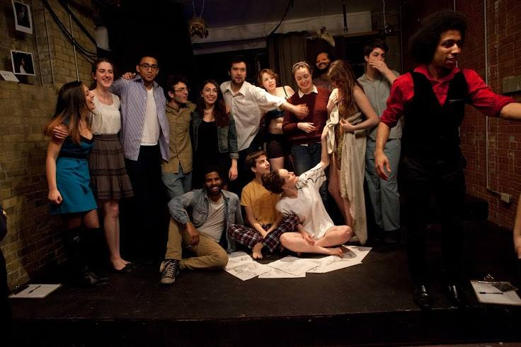 The cast and crew of Muse, after closing night.
