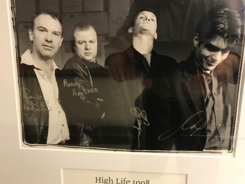 """The cast of """"High Life"""", Ron White (Dick), Randy Hughson (Bug), Brent Carver (Donnie), Clive Cholerton (Billy), that Jim Millan directed for Crow's in 1996."""