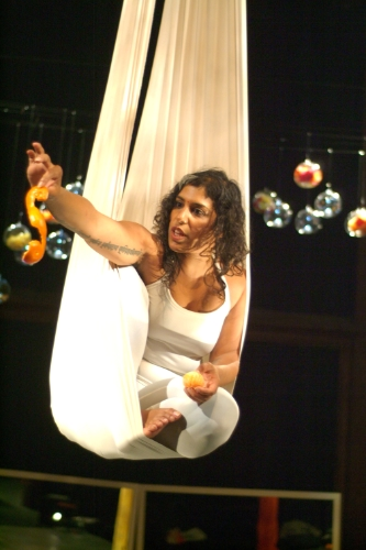 nisha ahuja in Cycle of a Sari(Photo by Leah Snyder)