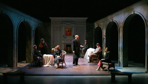 Vertigo Theatre's Go Back for Murder, 2007. Lighting Design: Gavin McDonald; Set Design: Scott Reid; Costume Design: Linda Leon. Photo by Gavin McDonald.