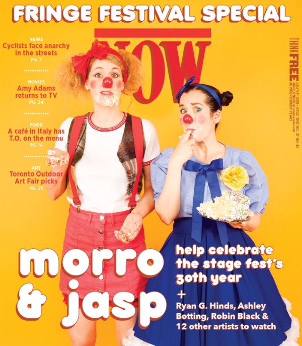 Morro & Jasp take the cover of NOW weekly for the 30th anniversary of the Toronto Fringe Festival