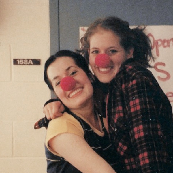 Heather Marie Annis and Amy Lee clowning around in the dressing rooms at York.