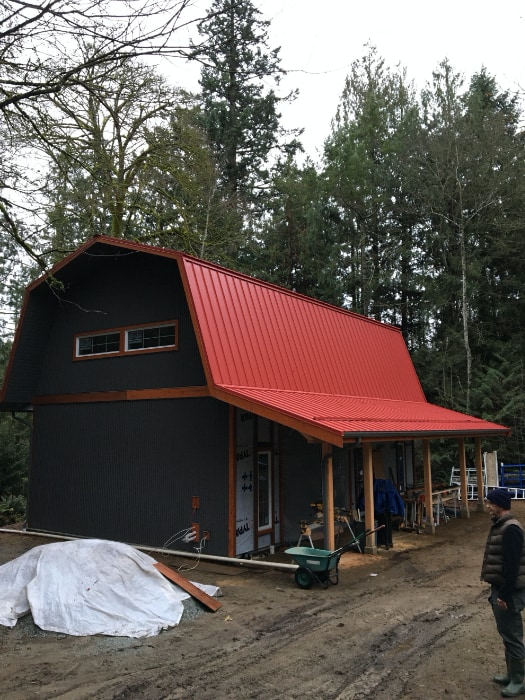The Woodland Farm Artist Residency close to completion